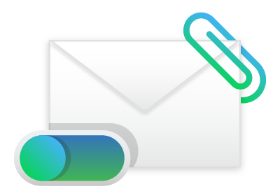 Email attachments icon