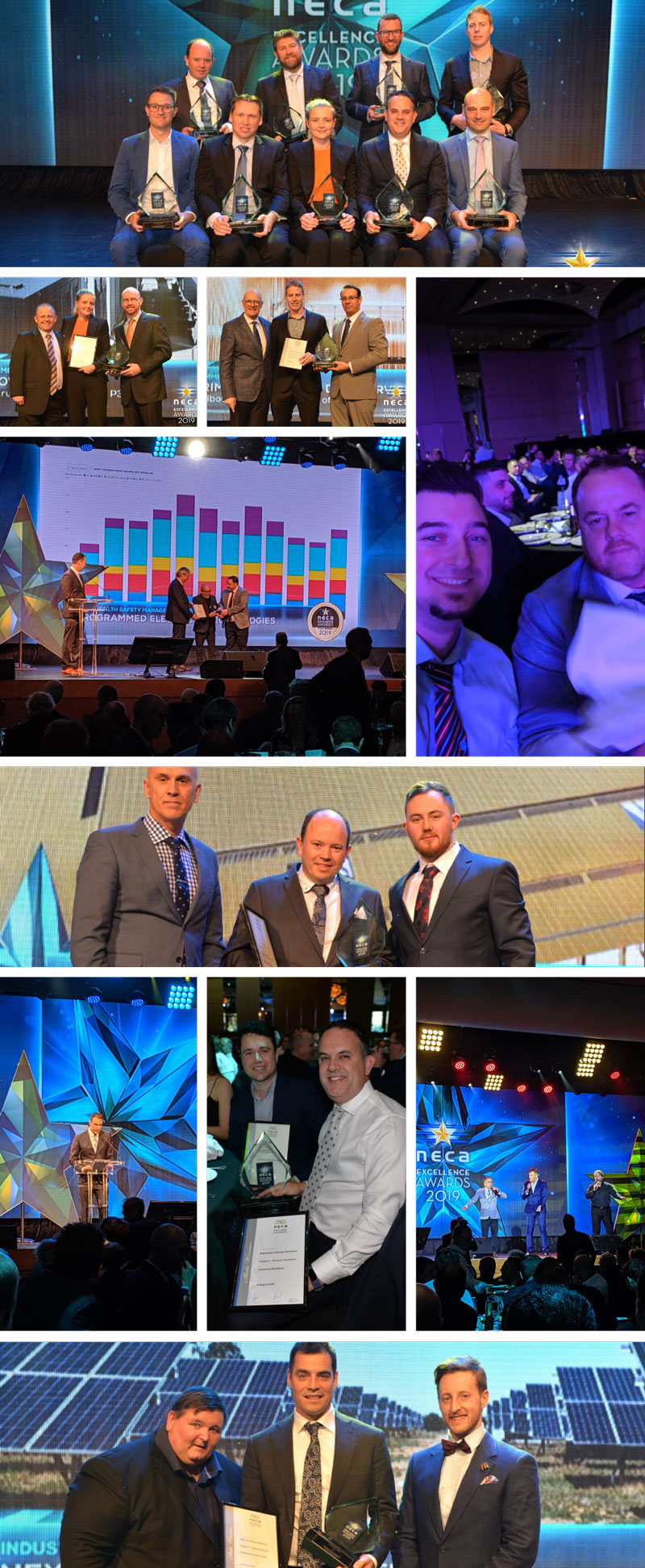 NECA VIC awards photo collage
