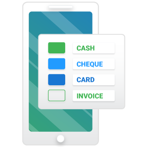 Accepting payments in the field icon