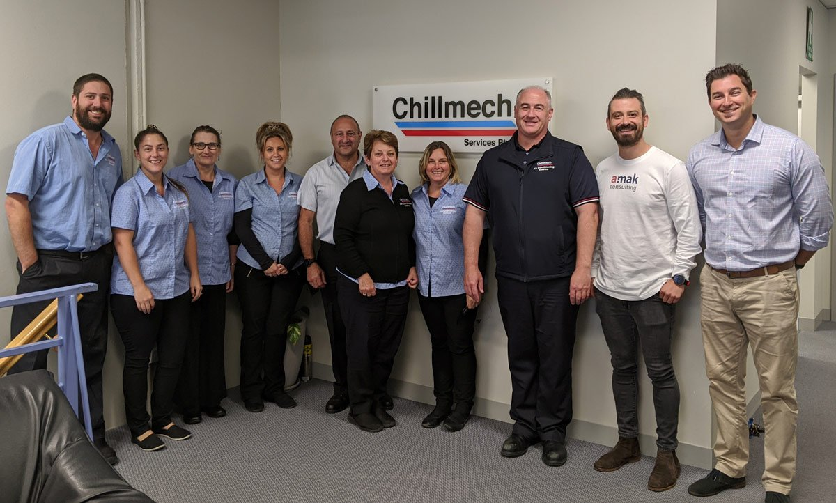 Staff members of Chillmech Services