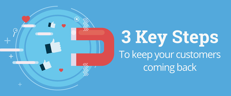3 Key Steps to keep your customers coming back