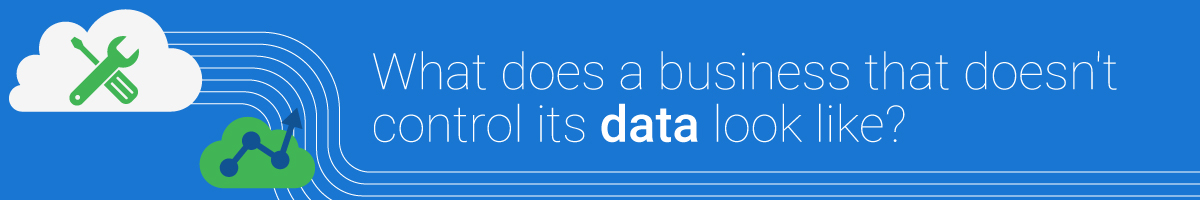 What does a business that doesn't control it's data look like?