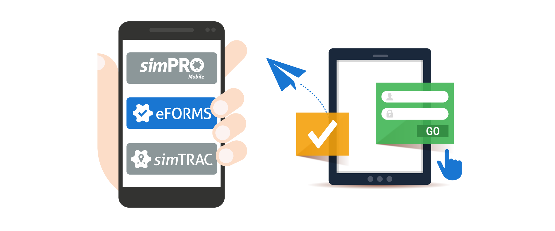 simPRO eforms user interaction