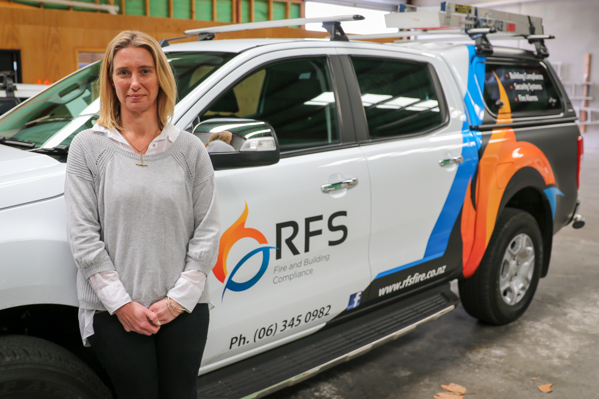 Lynda with RFS vechicle