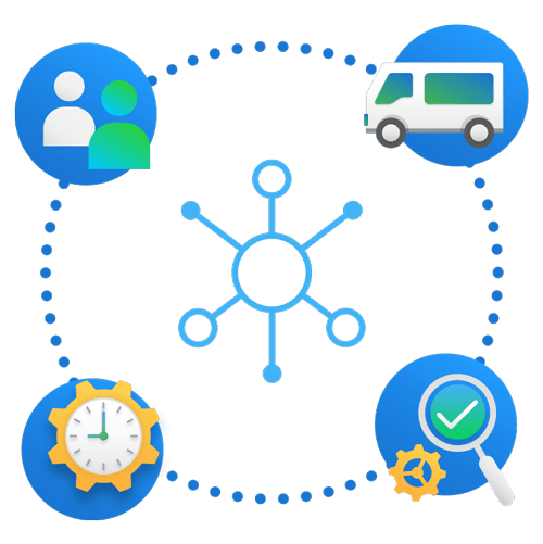 simPRO IoT icons illustration