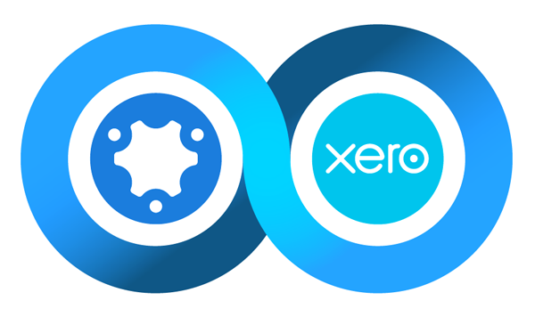 The simPRO and Xero integration logo