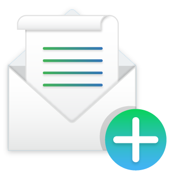 Email add text icon