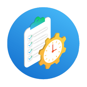 simPRO checklist time schedule illustration