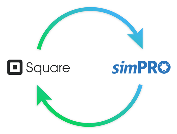 simPRO and Square logo composition
