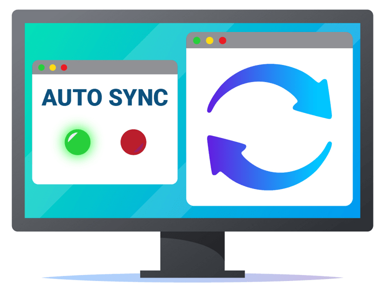 auto sync dialogue on computer monitor