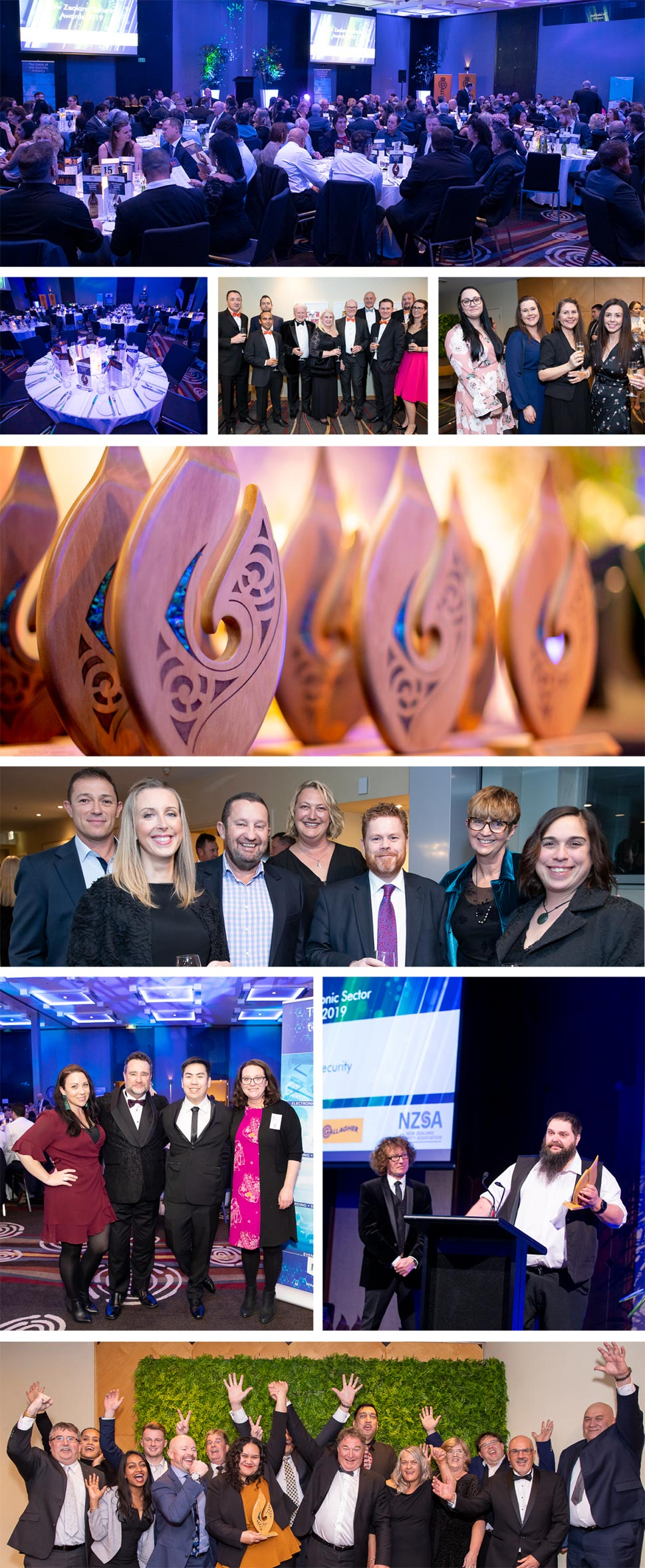 NZ Security Awards 2019 Photo Collage