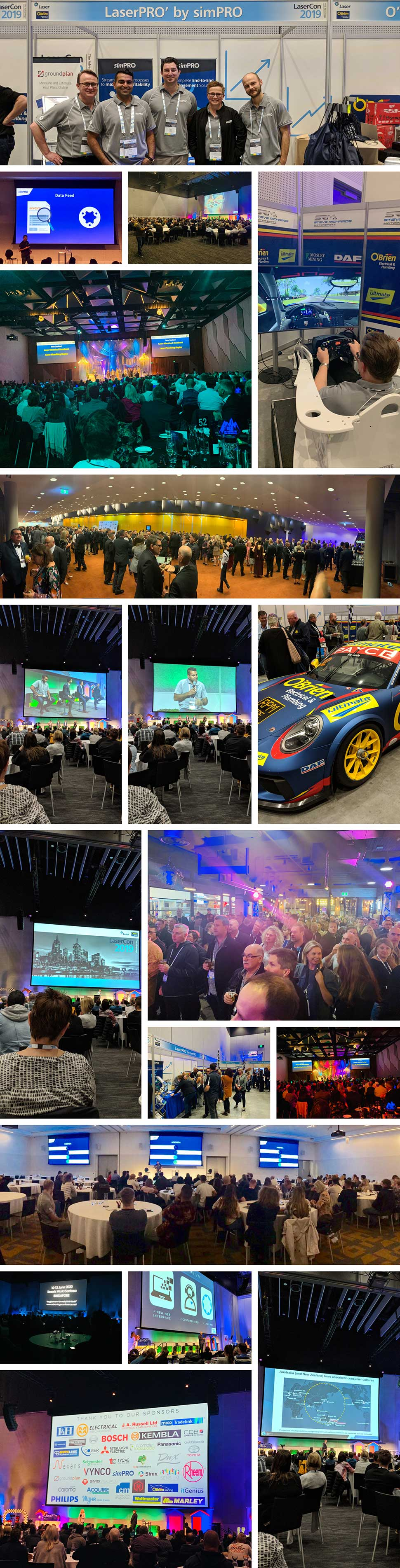 simPRO at LaserCon 2019 photo collage