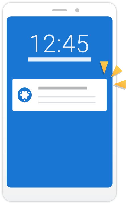 simPRO Mobile push notification illustration