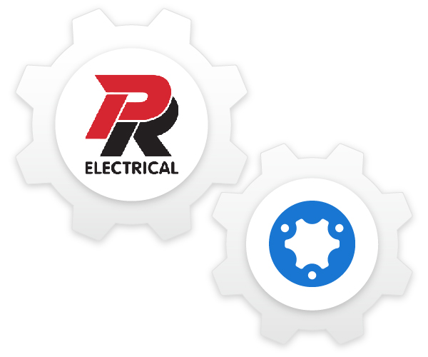 P&R Electrical and simPRO cog composition