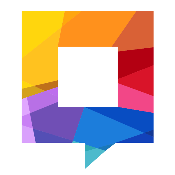 abstract colourful speech bubble